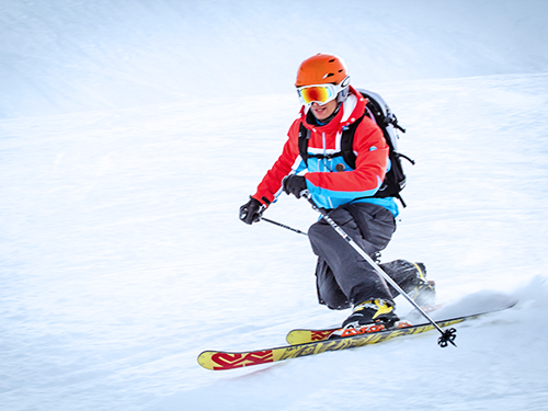 private telemark lessons in courchevel 1850